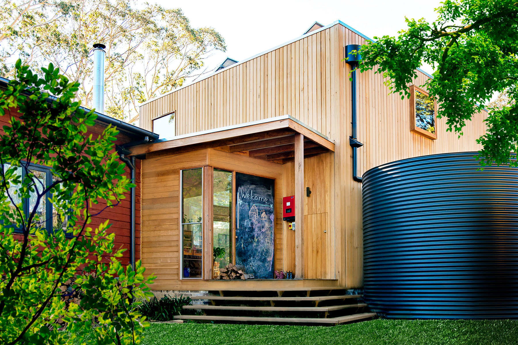 Wentworth falls mud brick house new build image solar passive extension in katoomba nsw image